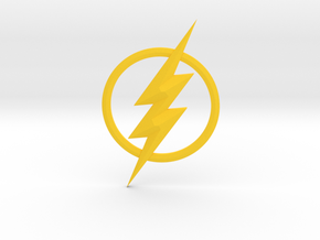 The Flash Emblem in Yellow Processed Versatile Plastic