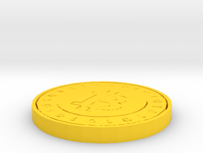 Bitcoin Model (Single Color) in Yellow Processed Versatile Plastic: Medium