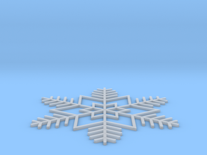 Snowflake necklace in Smooth Fine Detail Plastic