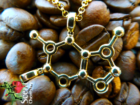 Caffeine in 18k Gold Plated Brass
