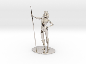 Diana (Acrobat) Miniature in Rhodium Plated Brass: 1:60.96