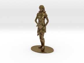 Elven Magic-User Miniature in Natural Bronze: 1:60.96