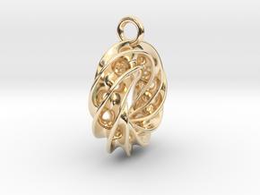 Twisted Scherk Linked 4,3 Torus Knots Pendant – Sm in 14K Yellow Gold