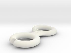 Cord Winder - Wulf Logo in White Natural Versatile Plastic