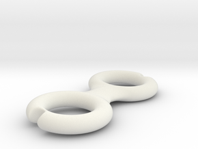 Cord Winder in White Natural Versatile Plastic