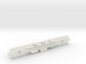 D&RGW Baggage Car  Underframe in White Natural Versatile Plastic