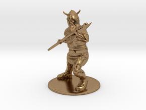 Dwarf with Bardiche Miniature in Raw Brass: 1:60.96