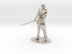 Elric of Melniboné Miniature in Rhodium Plated Brass: 1:60.96