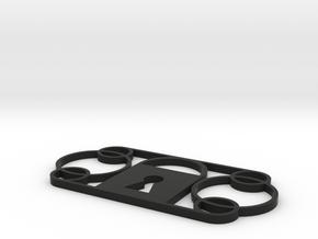 Interlocking in Black Natural Versatile Plastic