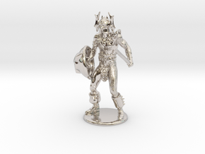 Warduke  Miniature in Rhodium Plated Brass: 1:60.96