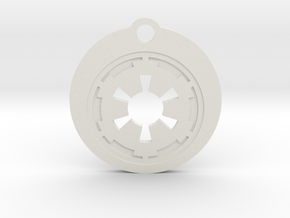 Star Wars Keychain - Empire Symbol in White Natural Versatile Plastic