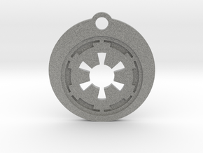 Star Wars Keychain - Empire Symbol in Metallic Plastic