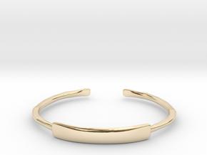 Hammered Cuff Bracelet in 14k Gold Plated Brass