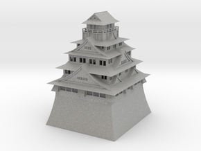 Osaka Castle in Aluminum