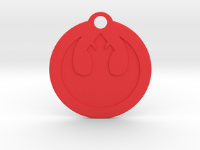 Star Wars Keychain - Rebel Alliance in Red Strong & Flexible Polished
