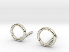 minimal stud earrings in 14k White Gold