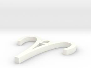 Aries Pendant in White Processed Versatile Plastic