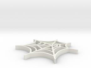 Spider web in White Natural Versatile Plastic: Medium
