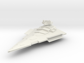 Victory Class Star Destroyer in White Natural Versatile Plastic