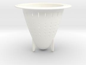 Water filter.stl in White Processed Versatile Plastic