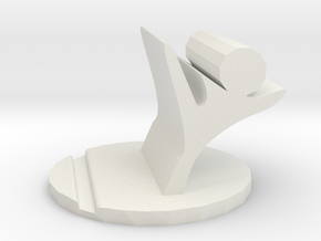 figthing phone stand in White Strong & Flexible: Small
