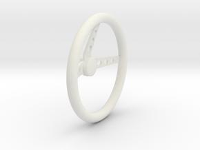 Steering Wheel V3 1/12 in White Natural Versatile Plastic
