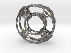 0619 F(x,y,z)=0 W Skeletal Tori 2 [10,4] (d=6cm) in Polished Nickel Steel