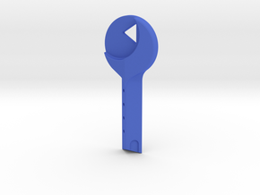Mulholland Drive - Blue Key in Blue Processed Versatile Plastic