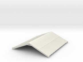 HO NSWR Fettlers Cottage Roof in White Natural Versatile Plastic