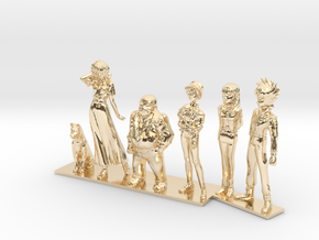 1/64 Sugo Team Characters in 14k Gold Plated Brass