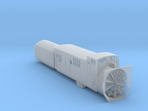 Railroad SnowPlow With Tender - Nscale in Frosted Ultra Detail