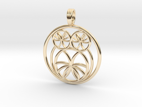 SACRED OWL in 14k Gold Plated Brass