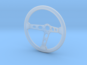 Steering Wheel Deep-Dish Type - 1/10 in Smooth Fine Detail Plastic