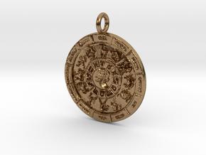 Zodiac 12 Pendant in Natural Brass