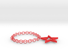 Star Necklace in Red Processed Versatile Plastic