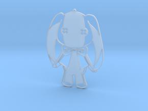 Button Rabbit 2 in Smooth Fine Detail Plastic