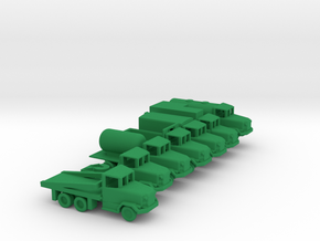 1/200 Scale M35 Truck Set in Green Strong & Flexible Polished