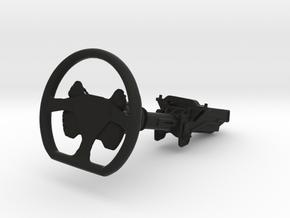 Steering Wheel P-CUP17 Type - 1/10 in Black Natural Versatile Plastic