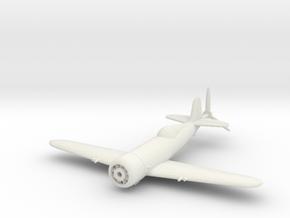 1/144 IAR 80 Romanian WW2 Fighter in White Natural Versatile Plastic: 1:100