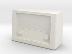 Printle Thing Vintage Radio 1/24 in White Natural Versatile Plastic
