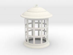 1/1 Scale Tennant TARDIS Lamp w/ Bottom Hole in White Strong & Flexible