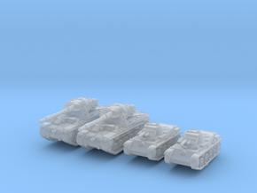 1/285 Swedish 42-57 Alt A.2 + L60 Tank Set X2 in Smooth Fine Detail Plastic