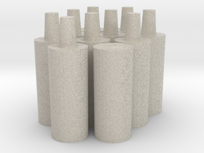 10 Short Pegs in Natural Sandstone