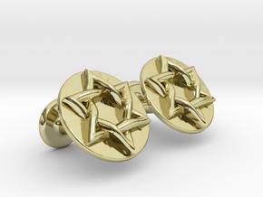 Magen David Cufflinks in 18k Gold Plated Brass