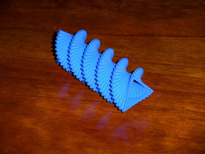 Triangle Spiral in Blue Processed Versatile Plastic