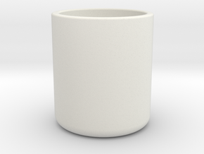 Cup in White Natural Versatile Plastic: Medium