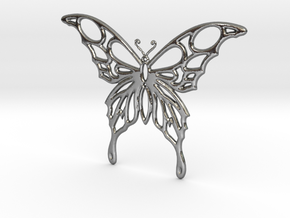 Butterfly 1 in Polished Silver