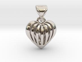 Coeur en cage in Platinum