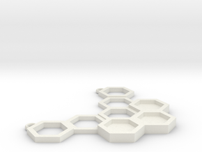 Honeycomb in White Natural Versatile Plastic: Small