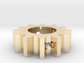Gear Bead - 2-2.5mm Hole in 14k Gold Plated Brass: Small